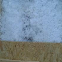 Verdichtete Einbringung von Mineralwolle Einblasdämmung (Glaswolle)