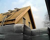 Dachdämmung mit Zellulose