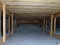 Hohlraum unter dem Dach