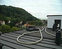 Einblasschlauch am Dach
