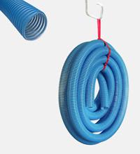 Einblasschlauch blau PE 15m