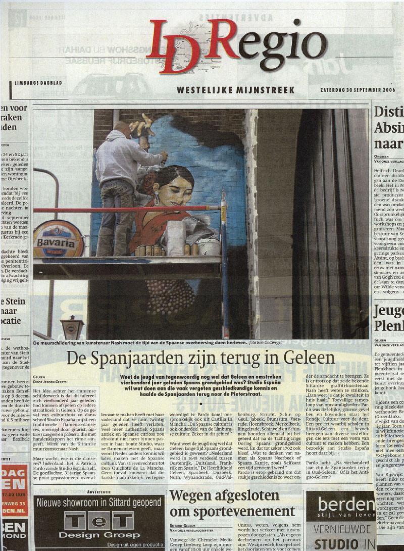 Nieuws - Krant - De Limburger - Limburgs Dagblad - Studio España - Patricia Pardo- Oud-Geleen - Antiguo-Geleen - Spaanse conversatieles -Spaanse les - Flamenco les - Limburg - Sittard - Awt-Gelaen