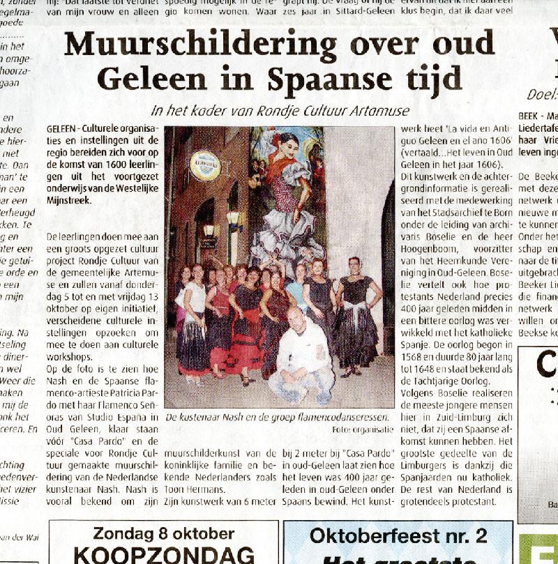 Nieuws - Krant - Maas en Mijn - De Trompetter - Studio España - Patricia Pardo- Oud-Geleen - Antiguo-Geleen - Spaanse conversatieles -Spaanse les - Flamenco les - Limburg - Sittard - Awt-Gelaen