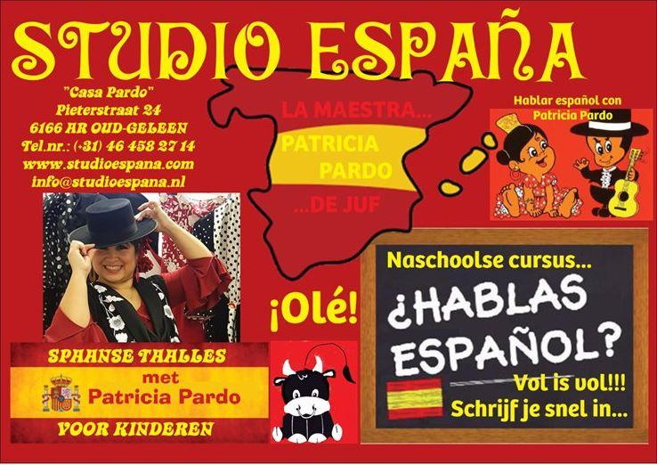 Basisschool Spaanse Taalles met Patricia Pardo voor kinderen. Geleen. Sittard. Hablar español con Patricia Pardo para niños. Naschoolse cursus.