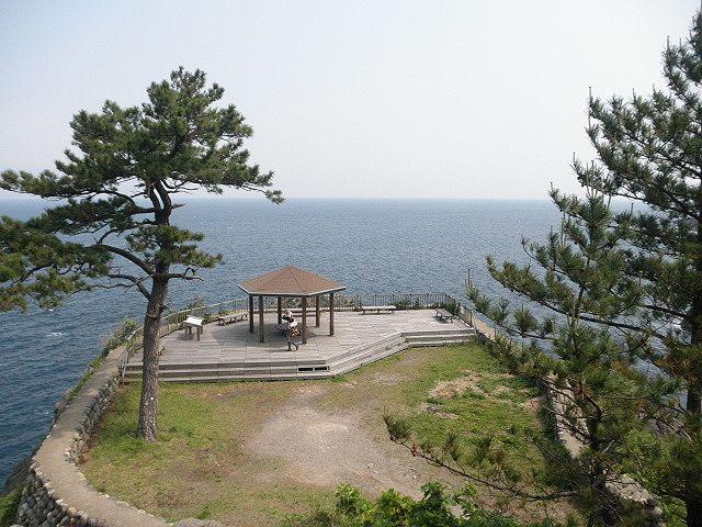 名勝・香住・今子展望台、ここからの眺めは壮観、夕日はバツグンの景観となる
