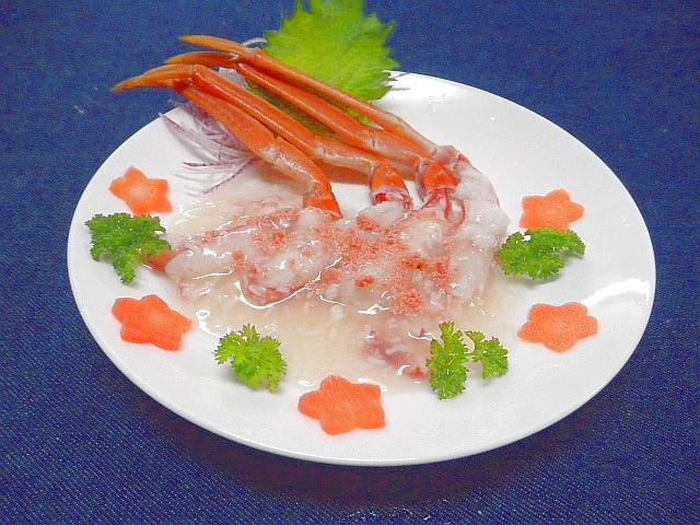 #カニの塩ダレスープかけ #カニしゃぶをベースに #オリジナルの塩スープをかけます