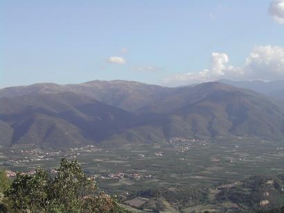 Vue sur la vallée du Roussillon