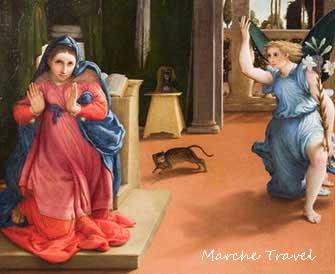 Annunciazione, Lorenzo Lotto, Museo Villa Colloredo Mels - Recanati