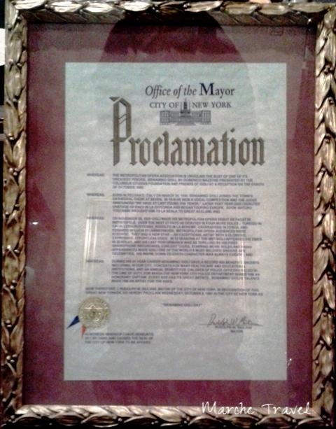 Proclamazione Beniamino Gigli Day