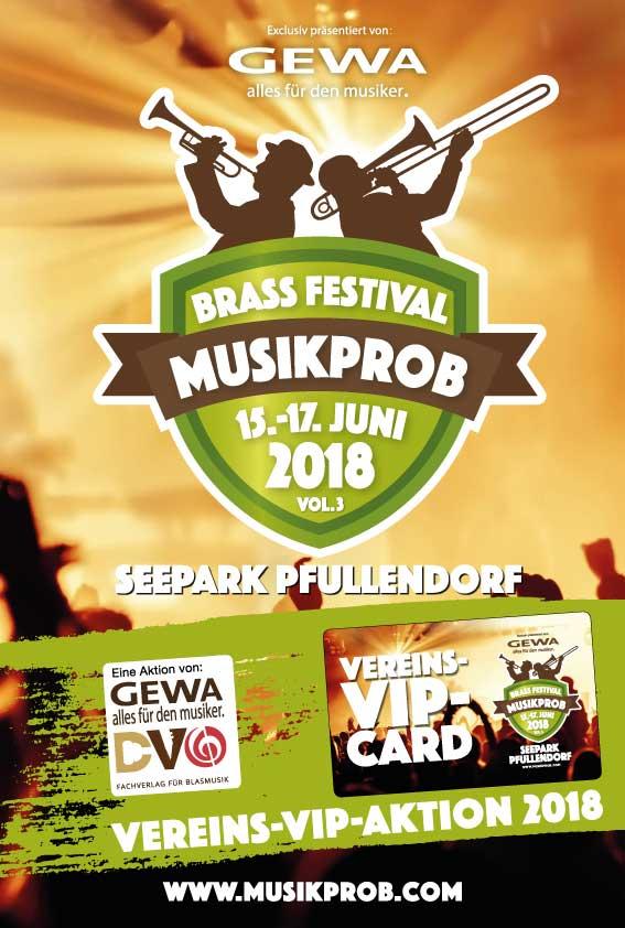 Vereins-VIP-Aktion MUSIKPROB 2018 Brass-Festival