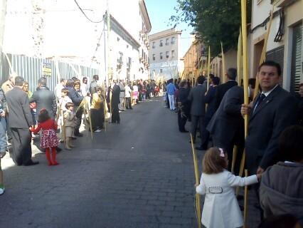 Panorámica de la procesión.