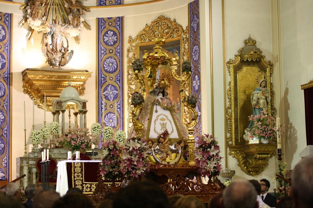 La Virgen dentro de la Iglesia Parroquial de Campo de Criptana.