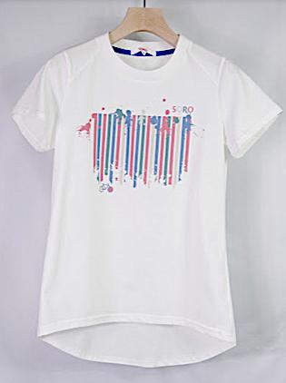 女性,サイクリング,Tシャツ,デザイン