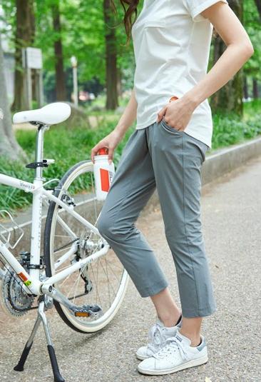 女性,自転車,クロップドパンツ,おしゃれ,機能性