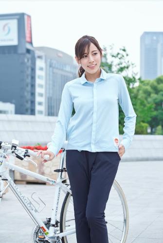 女性,通勤,自転車,服装
