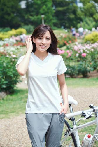 女性,サイクリング,自転車,Tシャツ,かわいい