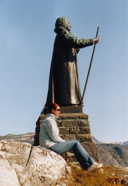 Egede Statue in Nuuk / Grönland