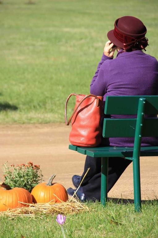 027_0071_17 Sept 2010_Gartenfest_Schlosspark_Dame auf Bank