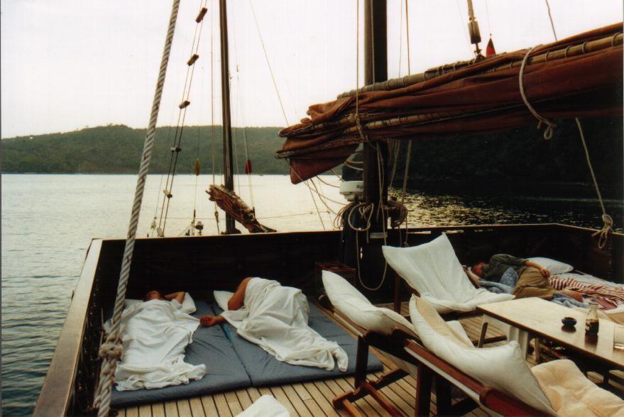 Dauw Talae II - Schlafen an Deck