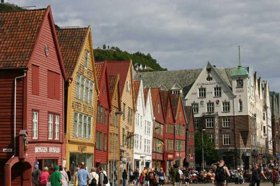 Bild 3232 - Norwegen, Bergen, Bryggen