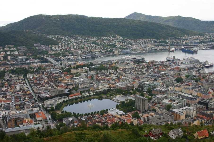 Bild 3115 - Norwegen, Bergen, auf dem Fløyen