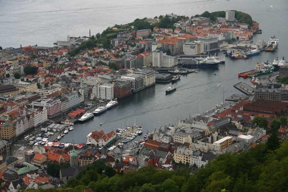 Bild 3136, Norwegen, Bergen, auf dem Fløyen