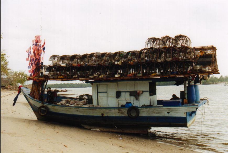Reusenboot auf dem River Krabi