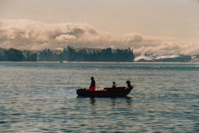 Fischer vor Ilulissat / Grönland