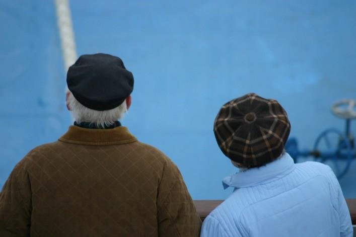 Bild 2459 - Norwegen, auf See, Rentnerpaar