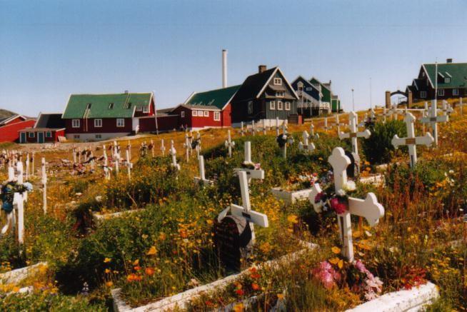 Friedhof in Qaqortoq / Grönland