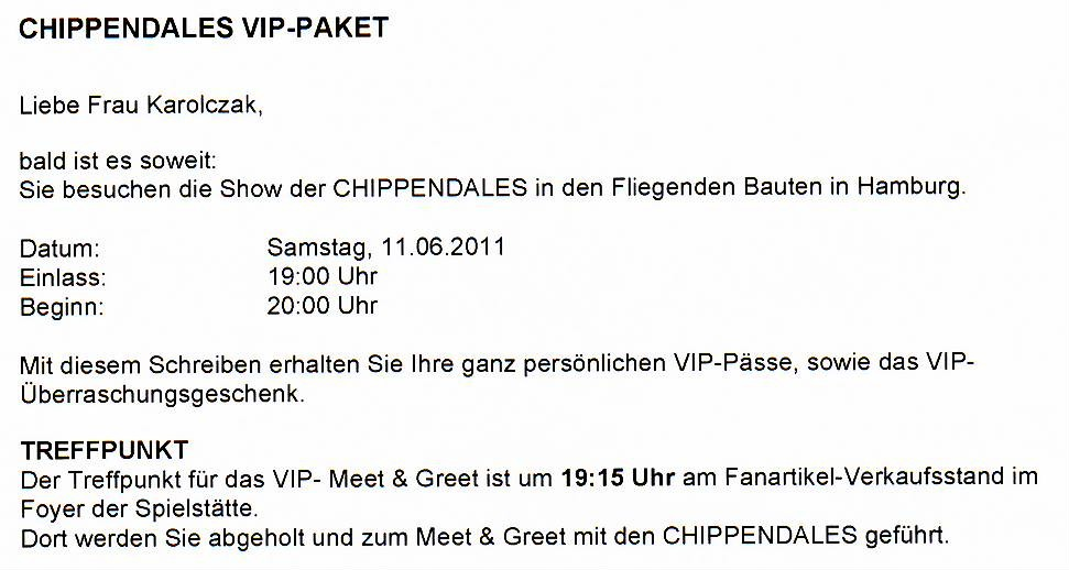 0000a_11 Juni 2011_Chippendales in HH_VIP-Package