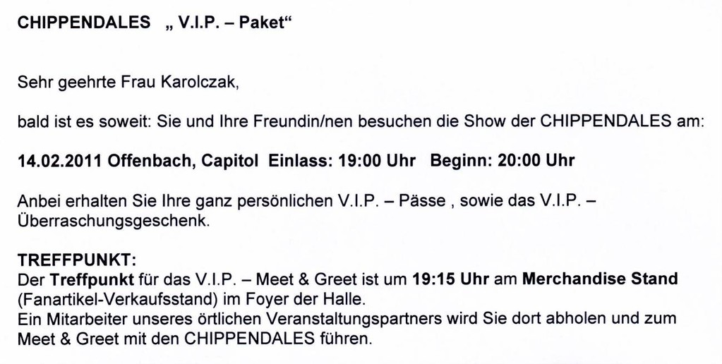 Chippendales-VIP-Package