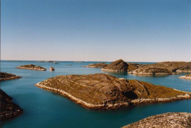 Blick auf die Schären vor Paamuit / Grönland