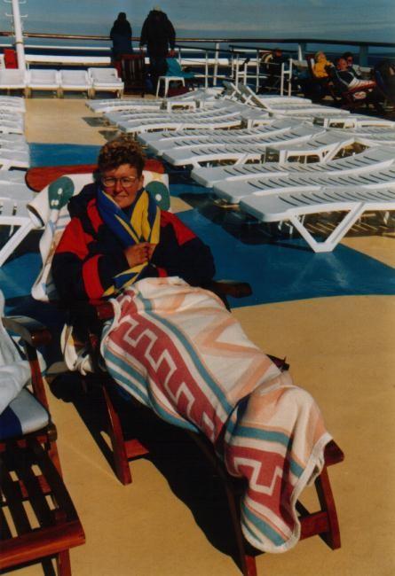 ein Seetag an Deck