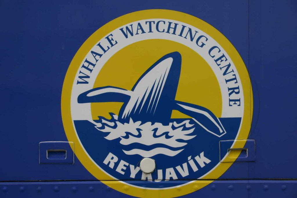 Bild 0545 - Island / Reykjavik, Whale Watching-Logo