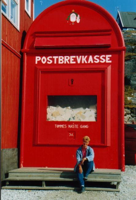 Weihnachtsbriefkasten in Nuuk / Grönland