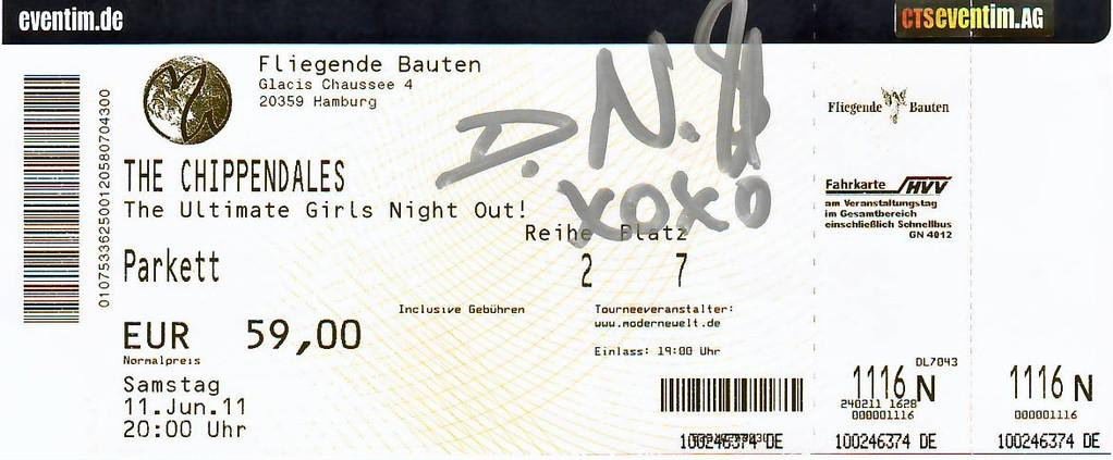 0000b_11 Juni 2011_Chippendales in HH_Eintrittskarte