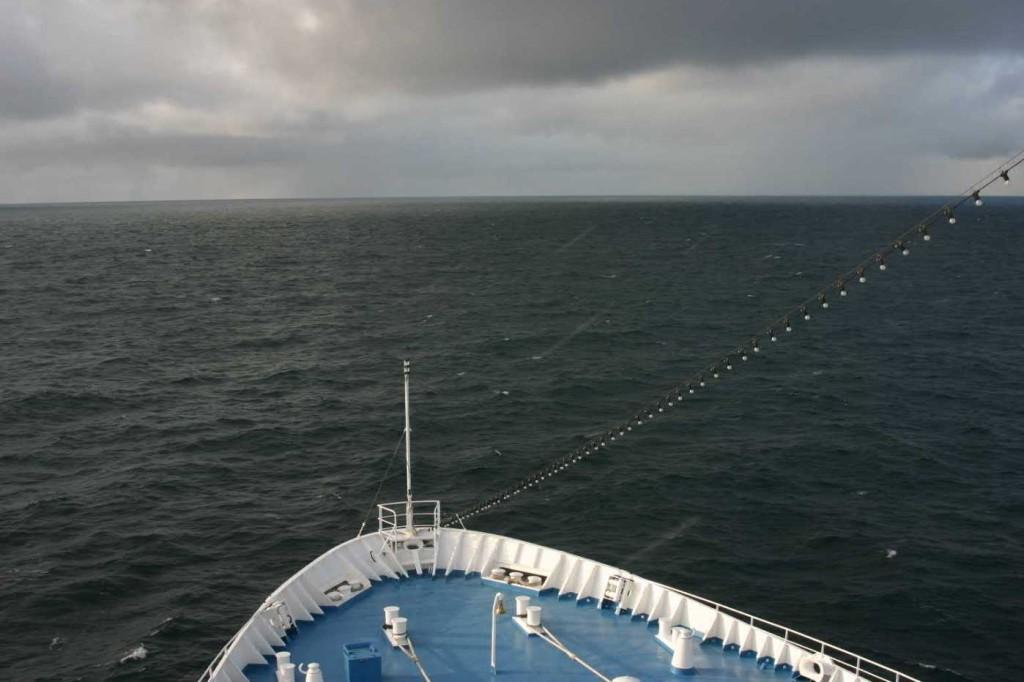 Bild 0938 - MS Delphin auf See, Schneesturm