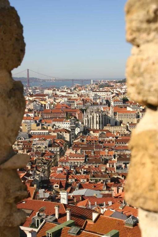 0473_01 Nov 07_Lissabon_Castelo de Sao Jorge_Elevador de Santa Justa_Convento do Carmo