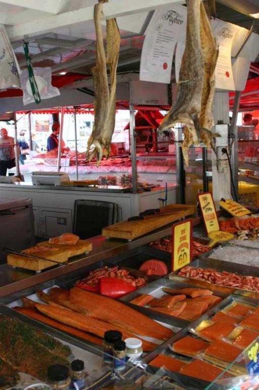 Bild 2934 - Norwegen, Bergen, Fischmarkt