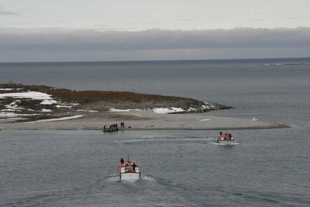 Bild 1167 - Spitzbergen, Magdalenenbucht, Tender