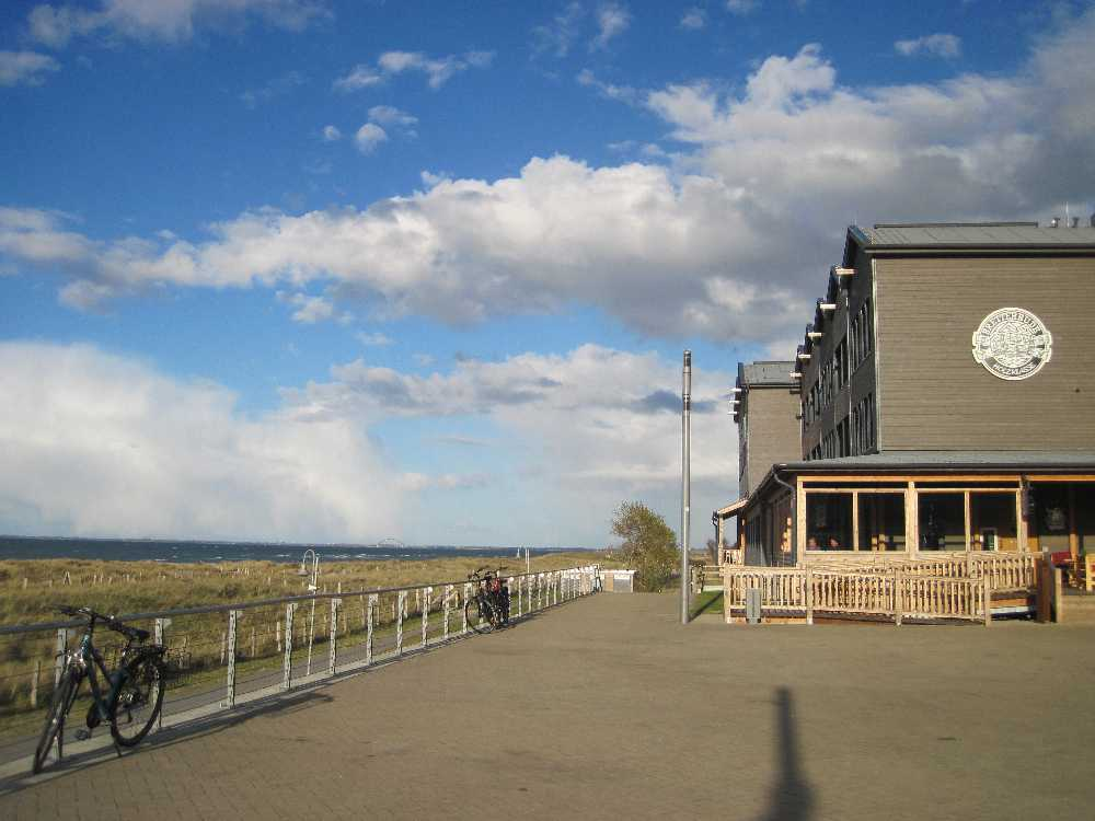 Strand vor dem  Hotel Bretterbude