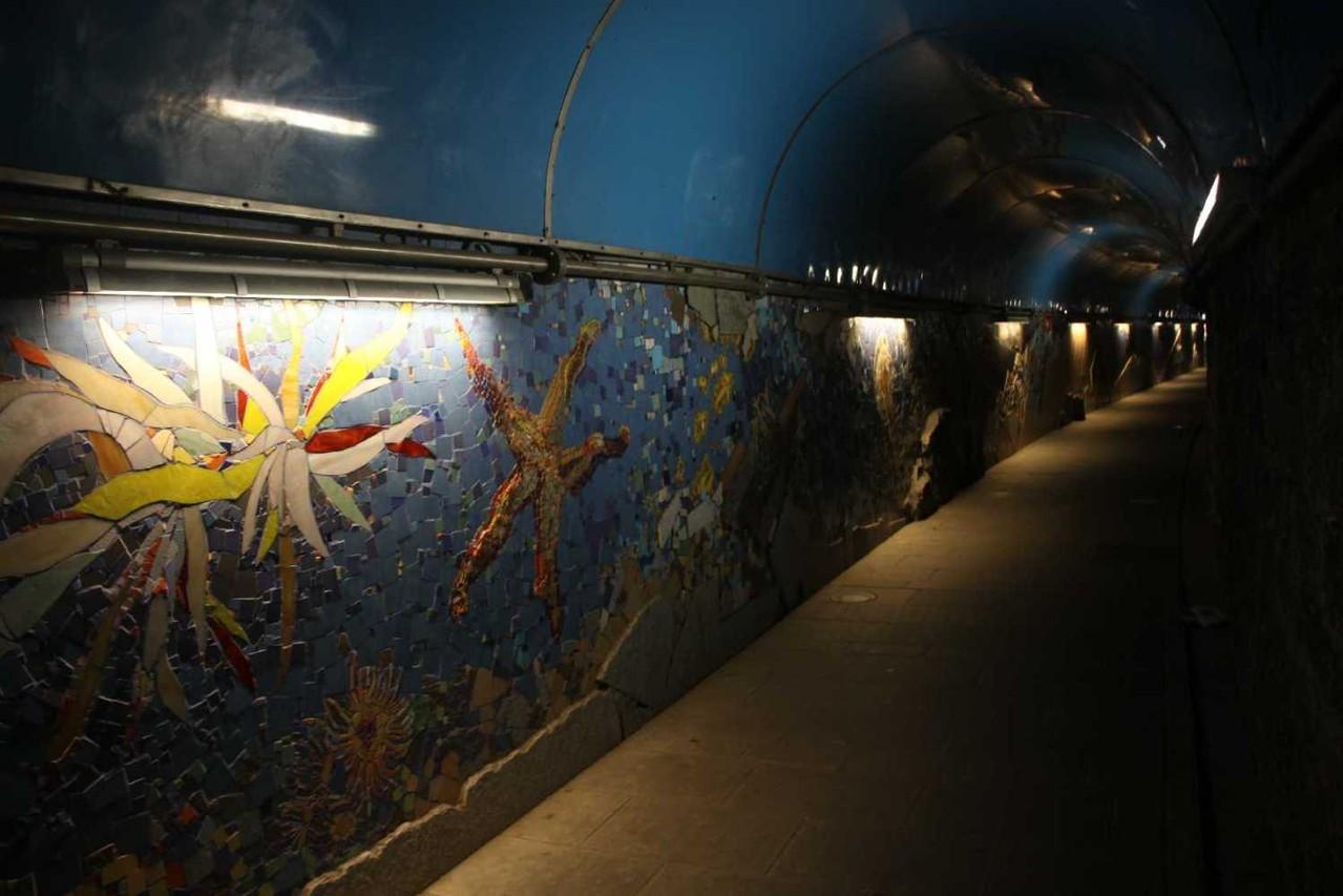 0742_11 Okt 2013_Riomaggiore_Bahnhof_Tunnel_Mosaik