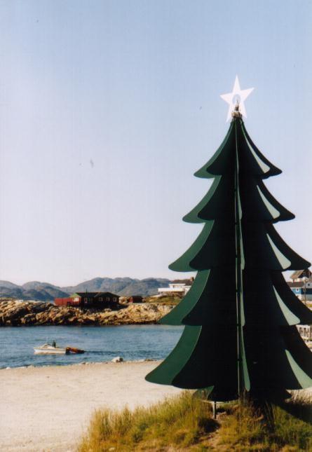 Weihnachtsbaum in Nuuk / Grönland