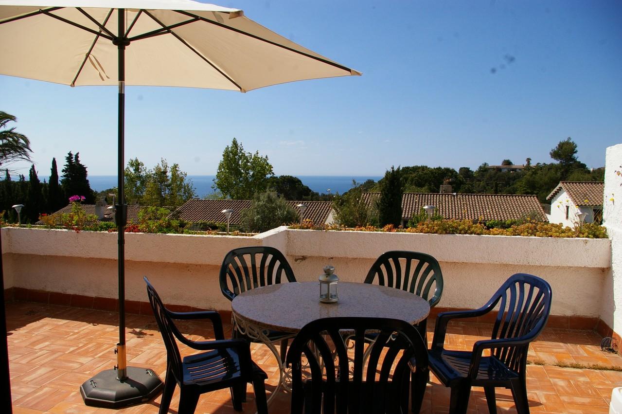 Casa de vacaciones con piscina en Tossa de Mar, Terraza