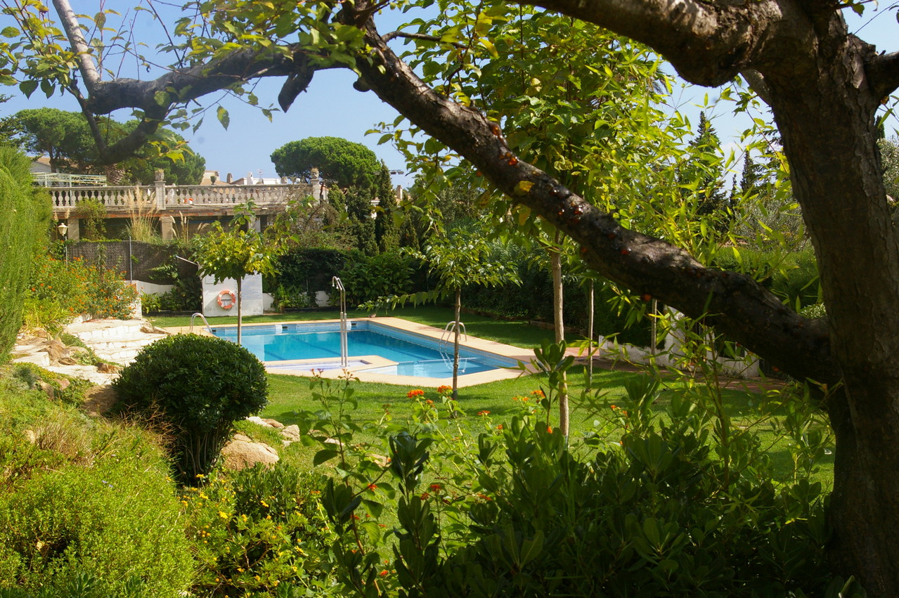 Vista de la piscina de la casa de vacaciones en Tossa de Mar