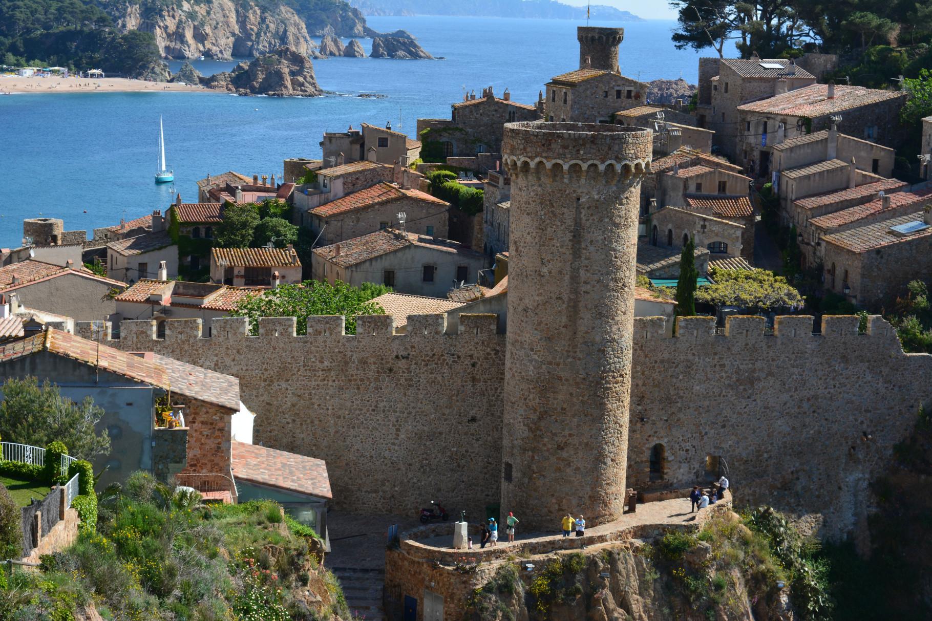 castillo medieval de Tossa