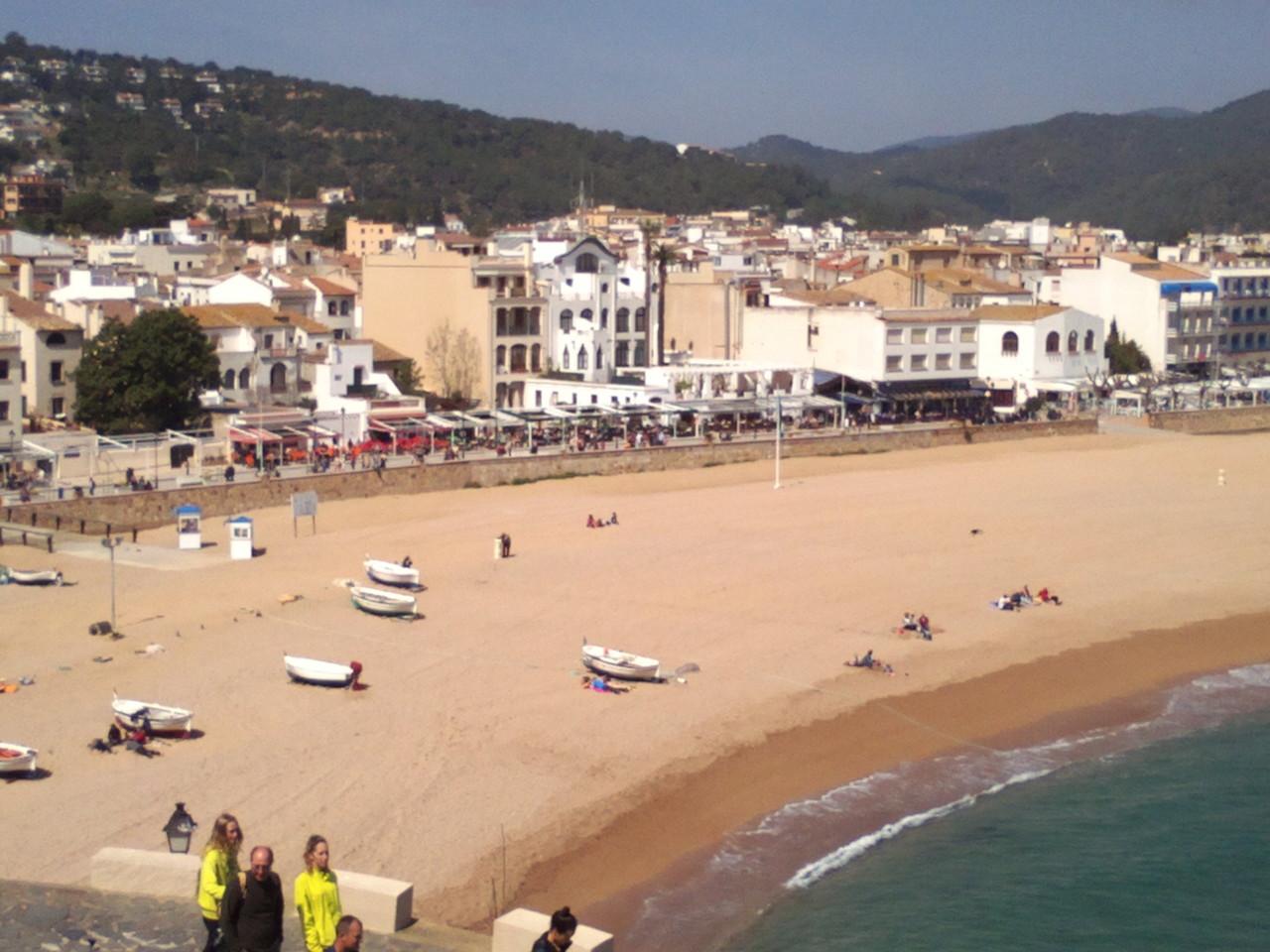 La plage de Tossa de Mar