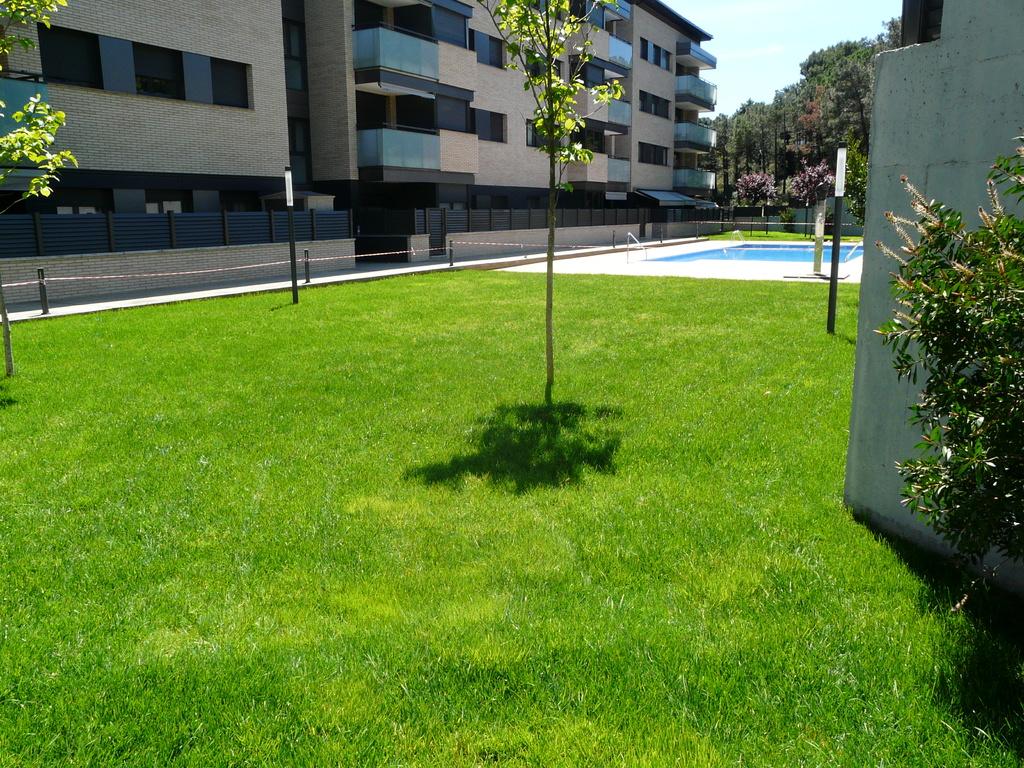 Jardín del apartamento de vacaciones