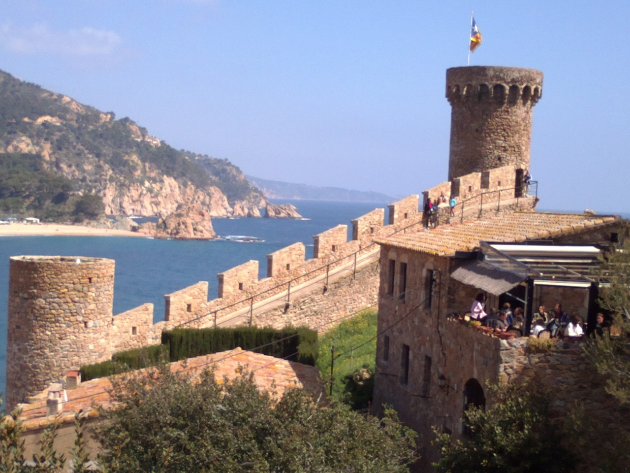 Beautiful views from the castle of Tossa